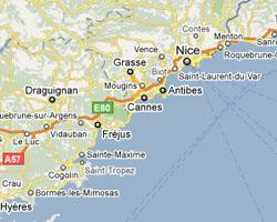 Plan Ville Villeneuve Loubet  Route De La Mer