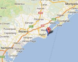 Villes De Barcares Et Collioure Sur Carte De France